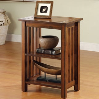Furniture of America 'Valentin' Antique Oak Mission-style End Table