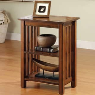 Furniture Of America Valentin Antique Oak Mission Style End Table