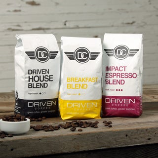 Driven Coffee 3-pack Blend Sampler (Donating 10 Percent of Sales)