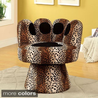 Furniture Of America Feline Paw Inspired Swivel Accent Chair