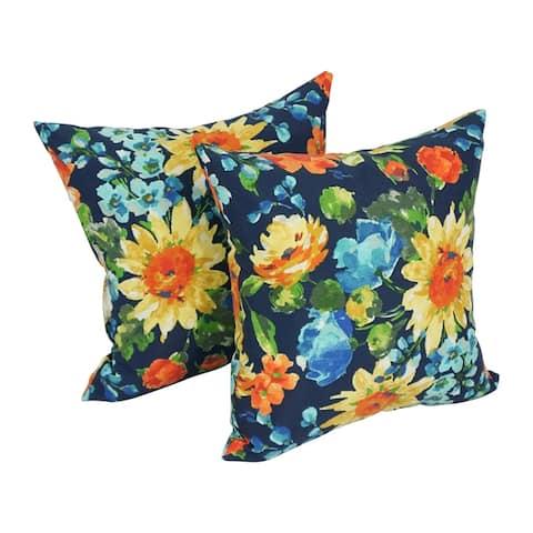 """Blazing Needles 17-in. Indoor/Outdoor Throw Pillows (Set of 2) - 18"""""""