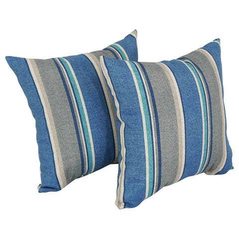 """Blazing Needles 17-inch Indoor/Outdoor Throw Pillow (Set of 2) - 18"""""""
