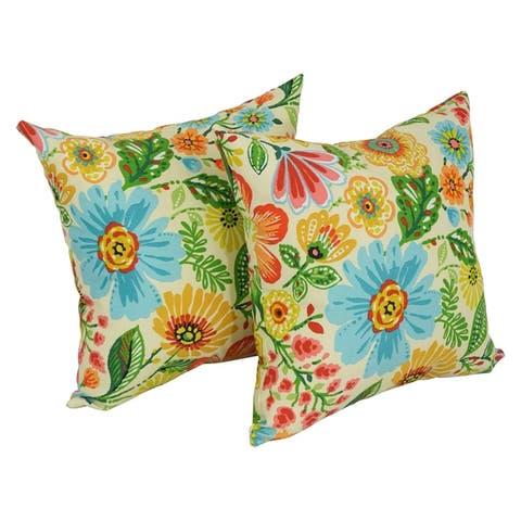 Blazing Needles 17-in. Indoor/Outdoor Throw Pillows (Set of 2)