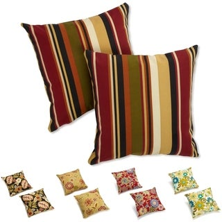 "Blazing Needles 18-inch Patterned Outdoor Throw Pillows (Set of 2) - 18"" (As Is Item)"