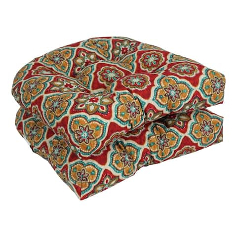 Blazing Needles 19-inch Indoor/Outdoor Chair Cushion (Set of 2)