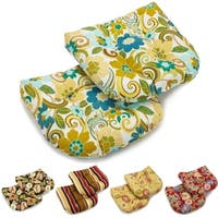Blazing Needles 19-inch U-shaped Tufted Outdoor Chair Cushions (Set of 2)