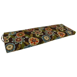"Blazing Needles 60-inch All-weather Outdoor Bench Cushion - 60"" x 19"""