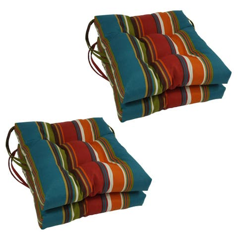 """Blazing Needles 16-inch Outdoor Chair Cushion (Set of 4) - 16"""" x 16"""""""
