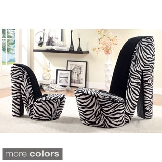 Furniture of America High Heel 2-piece Accent Chair Set