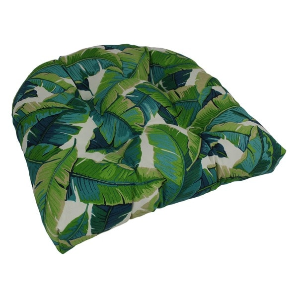 Superbe Blazing Needles 19 Inch U Shaped Tufted Outdoor Chair Cushion
