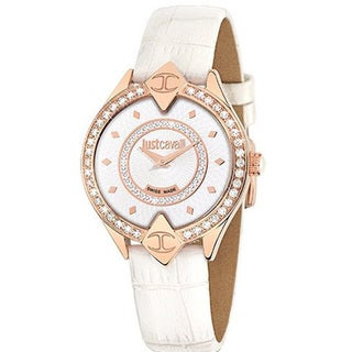 Just Cavalli Women's Sphinx White Leather Watch