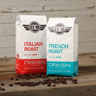 Driven Coffee Dark Roast Ground Coffee Duo (Donating 10 Percent of Sales)