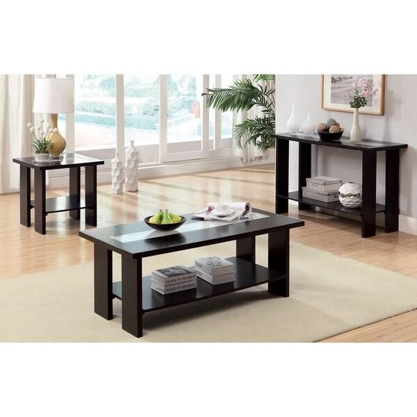 Shop Furniture Of America Ceal Modern Espresso Solid Wood