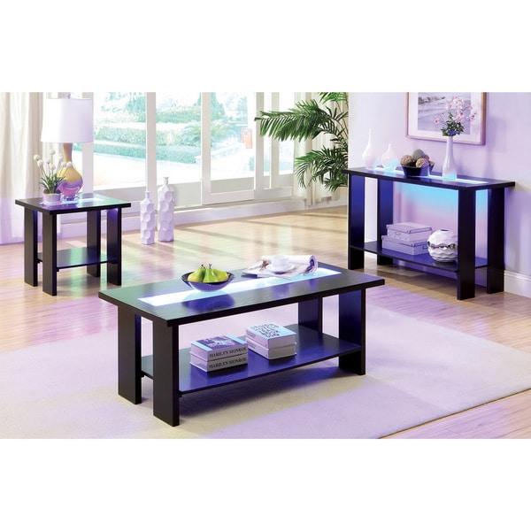Led Coffee Table Set: Shop Furniture Of America Esteluna LED-strip 3-piece Table