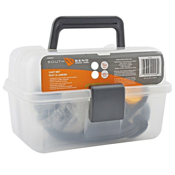 South Bend Monofilament Cast Net And Storage Box   Multi