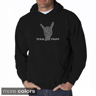 Los Angeles Pop Art Men's 'Texas Fight' Sweatshirt