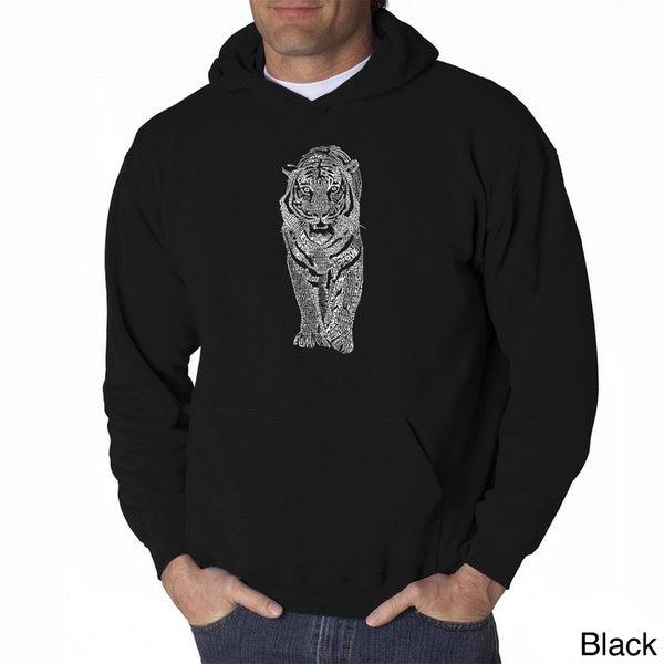 Los Angeles Pop Art Mens Endangered Species Tiger Sweatshirt