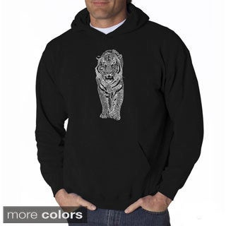 Los Angeles Pop Art Men's Endangered Species Tiger Sweatshirt