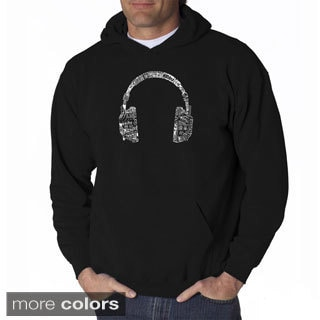 Los Angeles Pop Art Men's Music Headphones Sweatshirt