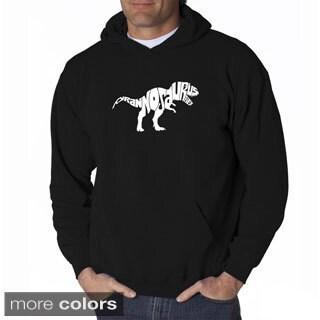 Los Angeles Pop Art Men's 'Tyrannosaurus Rex Text' Sweatshirt