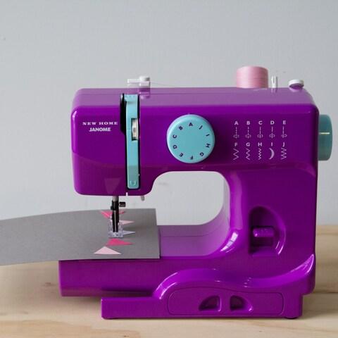Janome Purple Thunder Basic Easy-to-Use 10-stitch Free-arm Portable 5-pound Compact Sewing Machine
