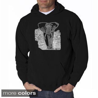 Los Angeles Pop Art Men's Endangered Species Elephant Sweatshirt