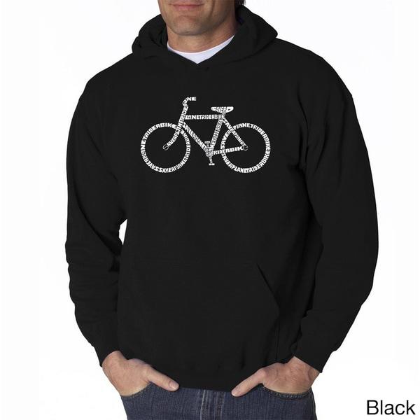 Los Angeles Pop Art Mens Save a Planet Ride a Bike Sweatshirt