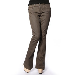 Stitch's Women's 'Curve' Brown Boot-cut Denim Jeans
