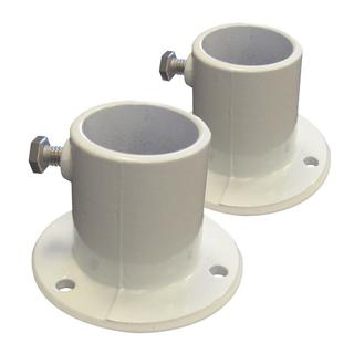 Blue Wave Aluminum Deck Flanges for Above Ground Pool Ladder