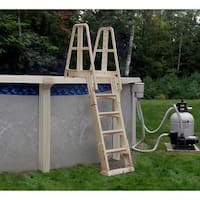 Vinyl Works Taupe Premium A-frame Above Ground Pool Ladder