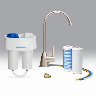Austin Springs Undercounter Water Filter, Premium Faucet Brushed Nickel