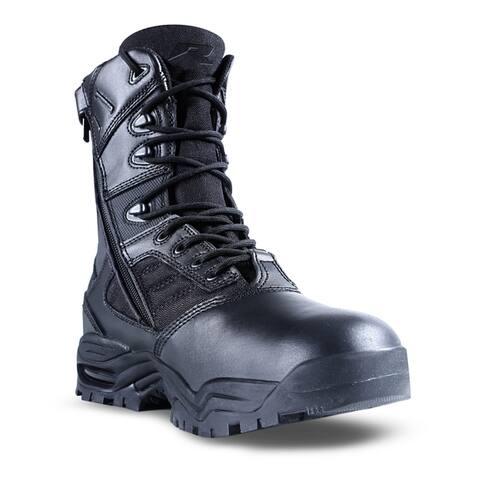 Ridge Outdoors Men's '9000' Black Mid-calf Leather and Nylon Boots