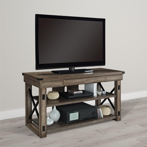 Avenue Greene Woodgate Wood Veneer TV Stand for up to 50-Inch TVs