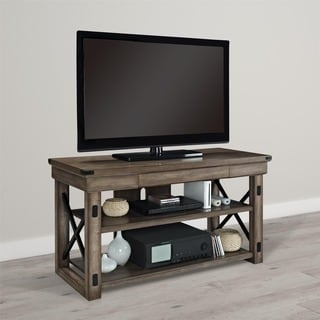 Ameriwood Home Wildwood Wood Veneer Rustic Grey 50-inch TV Stand