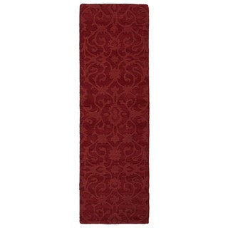 Handmade Trends Classic Red Wool Runner Rug (2'6 x 8')