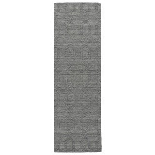 Handmade Trends Pop Grey Wool Runner Rug (2'6 x 8')
