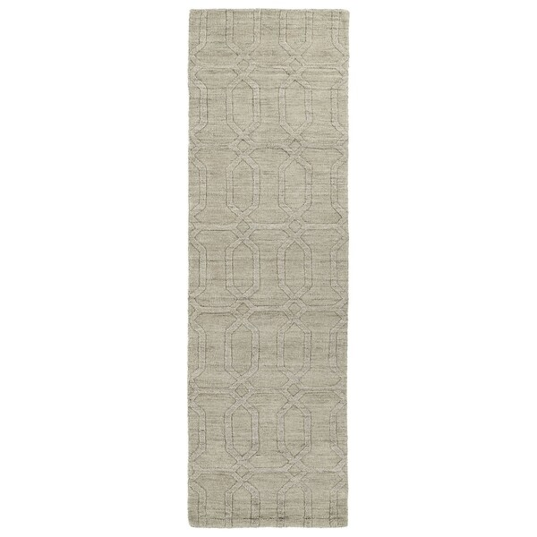 """Handmade Trends Oatmeal Pop Wool Runner Rug - 2'6"""" x 8'"""