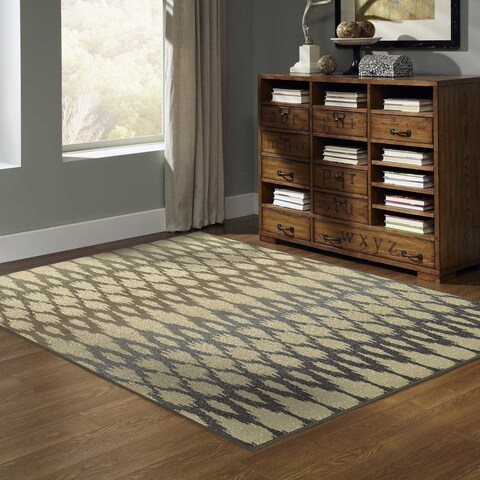 "Silver Orchid Bernon Ivory/ Multi Rug - 5'3"" x 7'3"""