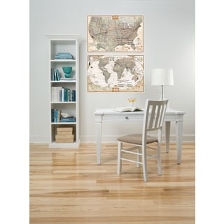 Wall Pops National Geographic Dry Erase USA and World Map Decal Set