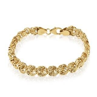 Gioelli 14k Gold Rosetta Bracelet https://ak1.ostkcdn.com/images/products/8881117/P16104762.jpg?impolicy=medium