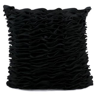 Nourison Mina Victory 20-inch Square Black Felt Throw Pillow