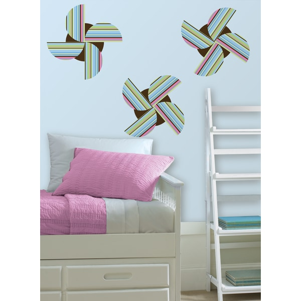 Wall Pops Ribbon Candy Blue/ Brown Wall Sticker Decal Art
