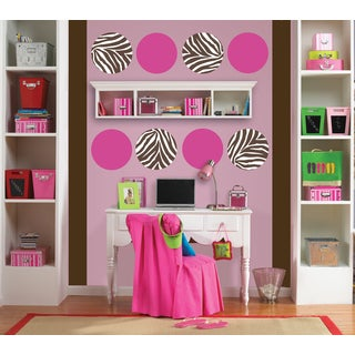 Wall Pops Zebra Luscious Wall Sticker Decal (Set of 9)