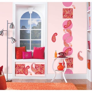 Wall Pops Paisley Please Red/ Pink Sticker Decals (Pack of 12)