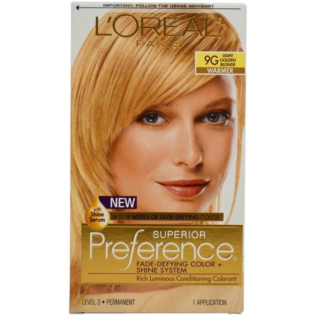 L'Oreal Paris Superior Preference 9G Light Golden Blonde ...