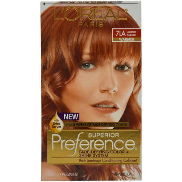 L Oreal Paris Superior Preference 7la Lightest Auburn Hair
