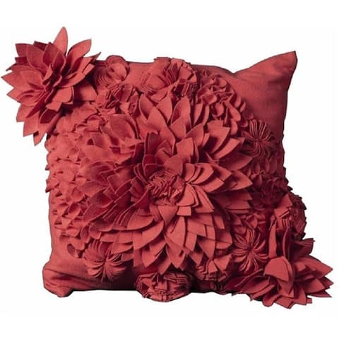 Mina Victory PinkThrow Pillow (20-Inch X 20-Inch)