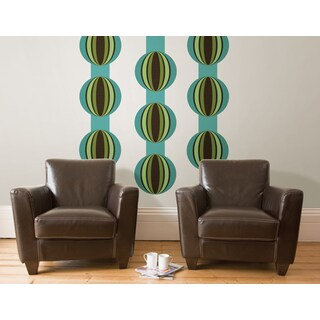 Wall Pops Loopy Blue Stickers Decal (Pack of 14)