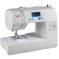 Janome 49018 Computerized Sewing Machine with LCD Screen, 18 Stitches, 3 Buttonholes, Start/Stop and Memorized Needle Up/Down