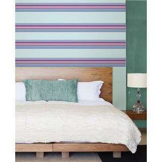 Wall Pops Ribbon Candy Purple Stripes Wall Decal Set